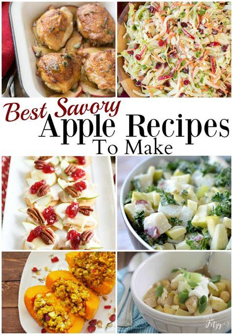 savory apple recipe round up hey fitzy