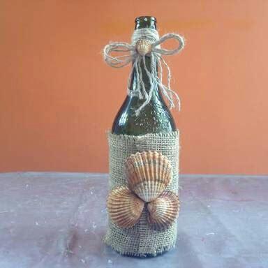 decorar botellas de vidrio vintage botellas y frascos decorado con yute estilo vintage