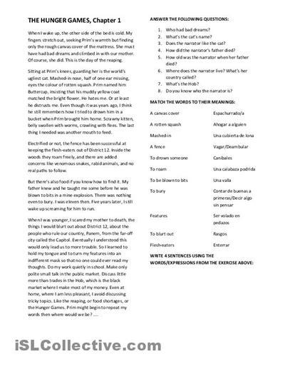 printable hunger games quiz worksheet hunger games worksheets hunterhq free