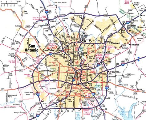 map of san antonio and surrounding area map of san antonio