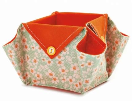pattern fabric boxes origami fabric boxes free sewing patterns sew magazine