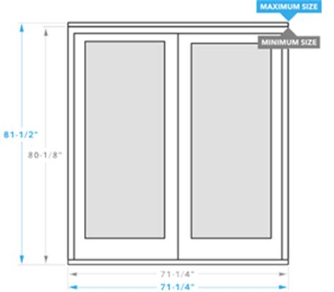 patio door sizes size chart