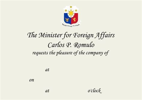 Exle Invitation Letter To His Excellency His Excellency The Philippines Ambassador Best Free Home Design Idea Inspiration