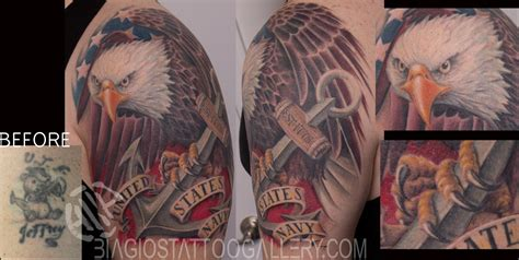 tattoo gallery eagle quot navy eagle quot by sharon lynn by samuel molano tattoonow