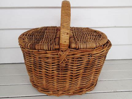 vintage cane picnic basket  home garden gumtree