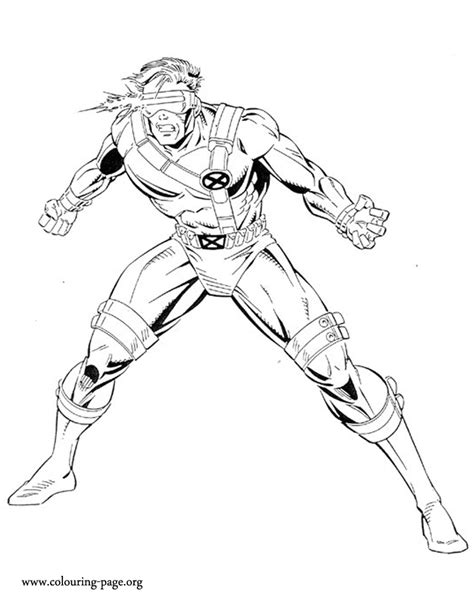 X Men Cyclops Coloring Page Cyclops Coloring Pages
