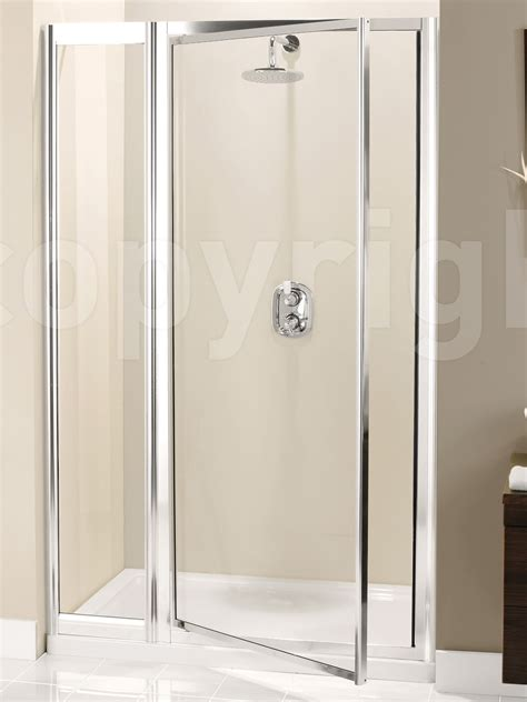 Shower Door And Panel Simpsons Supreme 1100mm Pivot Shower Door With Inline Panel