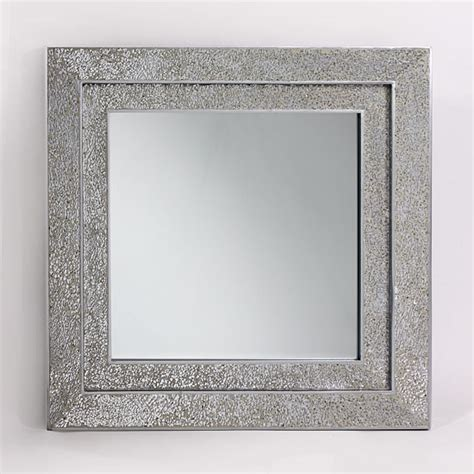 silver squares framed mirror 32x66 in living room cooper decorative wall mirror square in mosaic silver frame