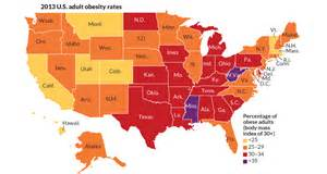 united states obesity map interactive map tracks obesity in the united states