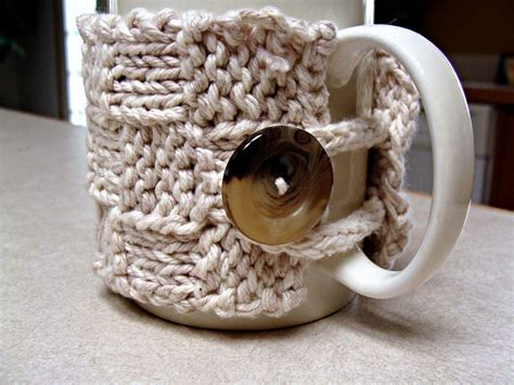 knitted coffee cup cozy pattern free mug cozy pattern twisted fibers designs