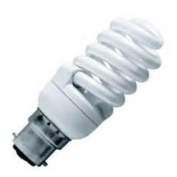 15 watt bc b22mm spiral energy saving light bulb