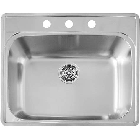 Single Kitchen Sinks | quot essential quot single kitchen sink rona