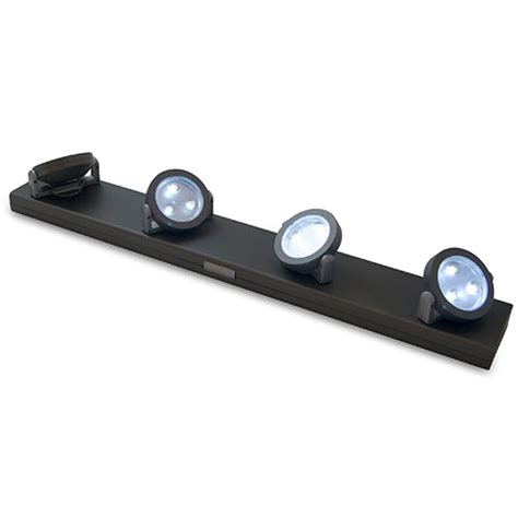 battery powered track lighting rite lite 12 led under cabinet light walmart com