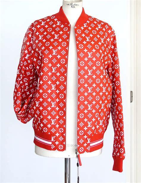 Baju Supreme X Lv louis vuitton supreme x leather bomber varsity jacket monogram m world s best