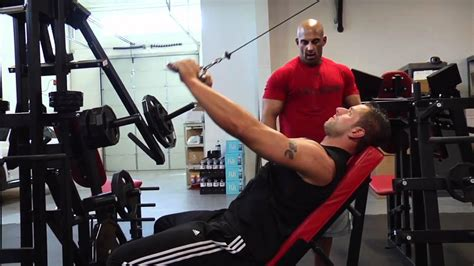 incline bench pull incline straight arm pulldown youtube