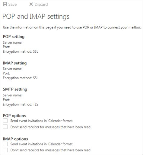 Office 365 Pop Settings by Use Pop Or Imap To Connect To Office 365 For Business Or