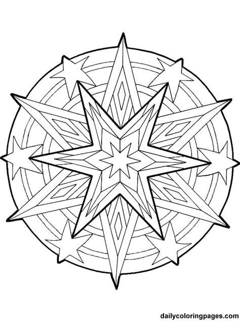 Free Printable Mandala Coloring Pages Mandala Christmas Ornaments Coloring Pages For Adults