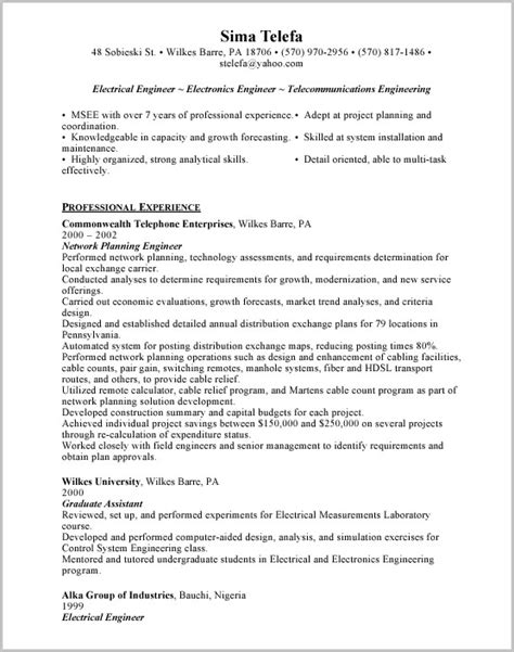 cover letter sle for engineering resume cover letter