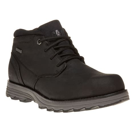 mens black caterpillar boots new mens caterpillar black elude leather boots chukka lace