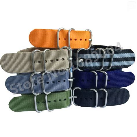 Nato Zulu 18mm 1 aliexpress buy high quality zulu band nato with stainless steel silver