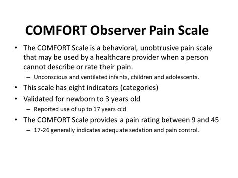 comfort scale peter lascarides do pgy4 pm r sbumc vamc sch ppt