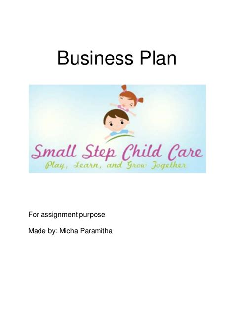 daycare business plan template free small step child care business plan