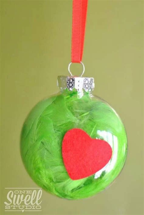 homemade grinch ornament   wonderful time