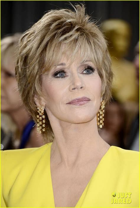 academy award hair styles jane fonda arrives on the red carpet at the 2013 academy