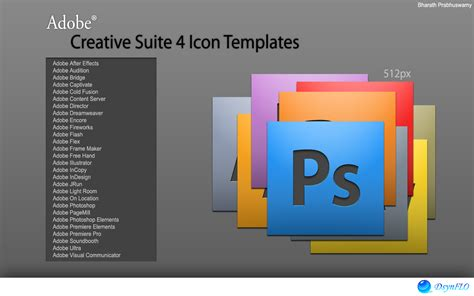 Adobe Templates adobe cs4 icon templates by bharathp666 on deviantart
