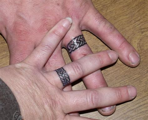 celtic ring tattoo wedding ring tattoos wpic