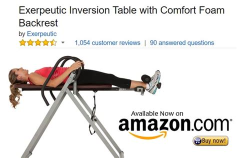 exerpeutic inversion table with comfort foam backrest looking for backache relief here are the top 5 inversion