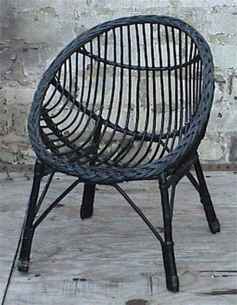 wicker bedroom chair vintage retro home round child s childs cane wicker