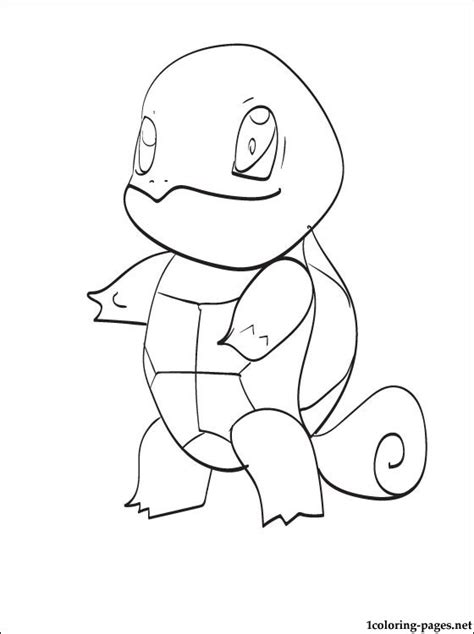 coloring page pokemon character squirtle coloring pages