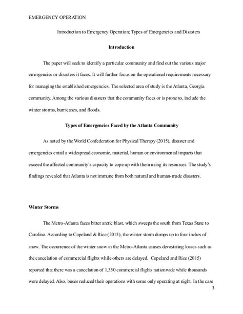 Disaster Management Research Essay by Disaster Management Essay