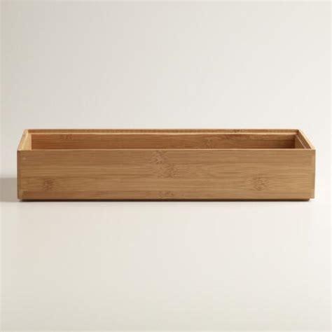 Large Drawer Dividers by Large Bamboo Drawer Organizer World Market