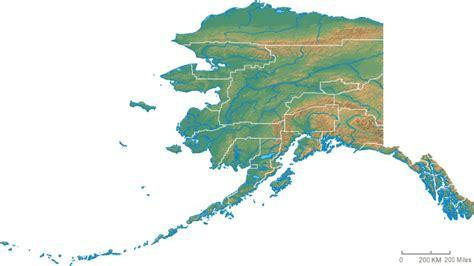physical map of alaska physical map of alaska alaska physical map vidiani