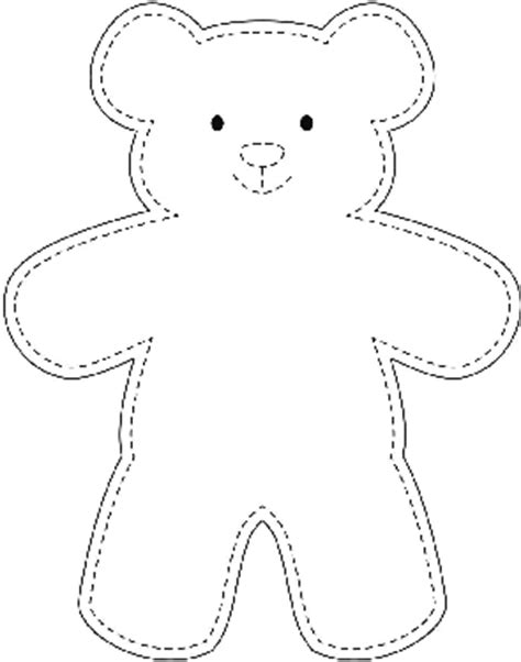 cut out teddy template sle teddy template wikihow quilting