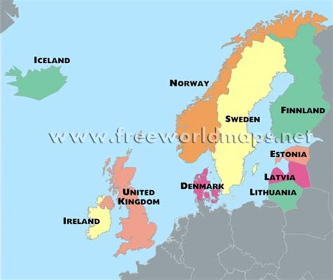 map northern europe countries northern europe map map3
