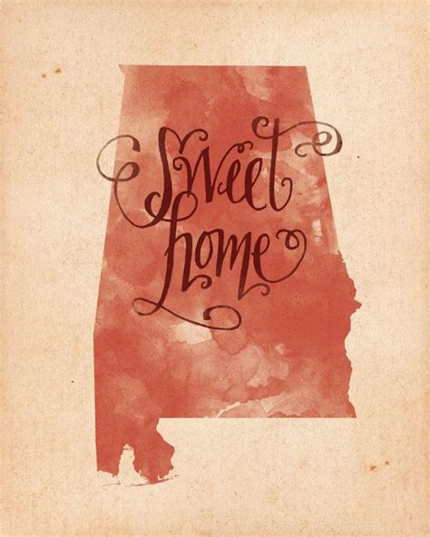 sweet home alabama print