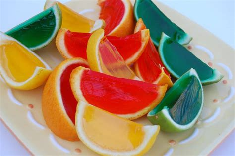 fruit jello jello filled citrus