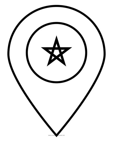 Morocco Flag Coloring Page - Circle | Transparent PNG