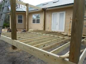 For deck joists deck beams and deck flooring giving inspectapedia com