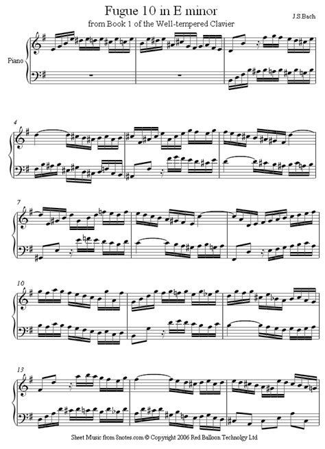 bach fugue in em on banjo bach fugue 10 in e minor bwv855 from 48 preludes and