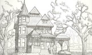 victorian houses drawings victorian house drawing