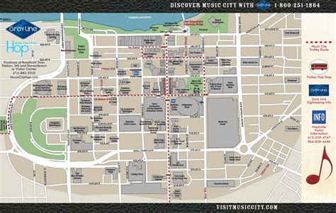 downtown nashville map nashville downtown map