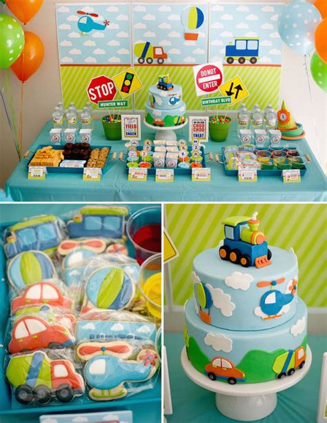 themed birthdays ideas kara s party ideas transportation themed birthday party