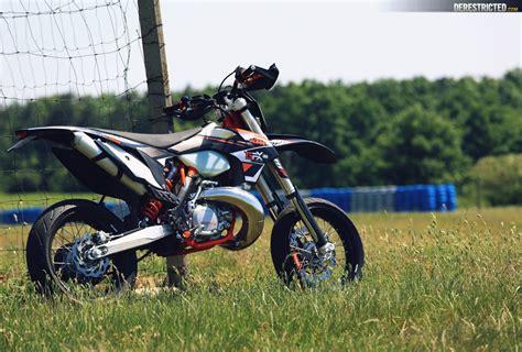 Ktm Supermoto 250 Ktm 250 Exc Supermoto On The Track Derestricted