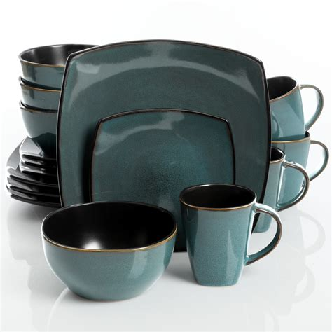 Kitchen Collection Coupon Code by Gibson Elite Soho Lounge 16 Piece Dinnerware Set Teal