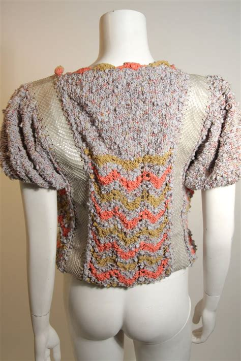 Handmade Sweaters For - norma handmade knit sweater with snakeskin inserts for