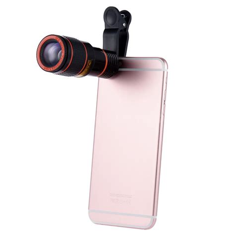 12x zoom cell phone clip on telescope lens for iphone 6s 6 plus c4d9 ebay